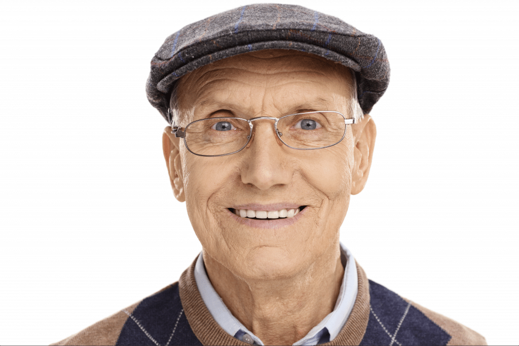 the smile doctor dentures smiling male